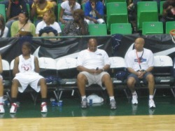 Coach Robinson On Game Bench